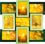 Фоторамка «ZIGZAG» на 9 фото в цветах