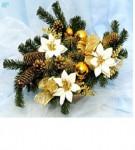 Большой декорированный рождественский подсвечник «Luxury» - 2 вида