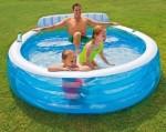 Семейный надувной бассейн Intex (224см х 216см х 76см)