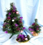 Набор 3 в 1 «Special» Елка декор 50см + елка декор 30см + подсвечник - 4 цвета