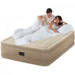 Надувная кровать Intex с электронасосом (152см х 203см х 46см)
