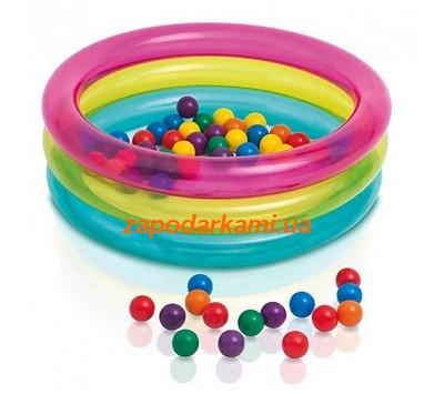 Детский надувной бассейн с шариками Intex  (86 см х 25 см)