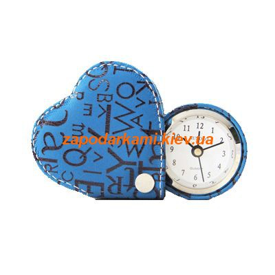 Кожаный  будильник-сердечко 1539