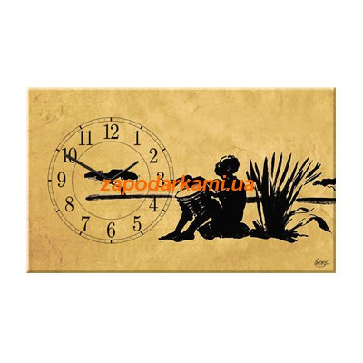 Настенные часы на холсте «Африка»