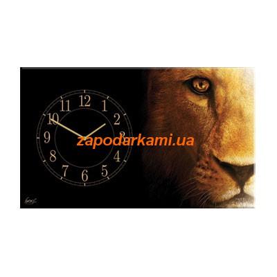 Настенные часы на холсте «Лев»