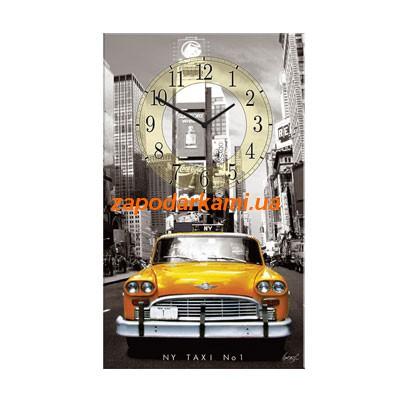 Настенные часы на холсте «Нью-Йорк»