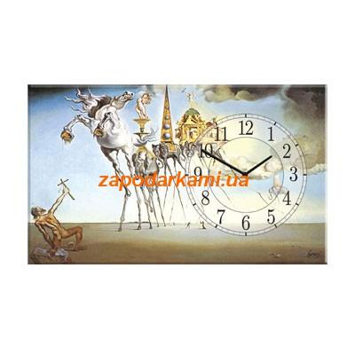Настенные часы на холсте «Искушение Святого Антония»
