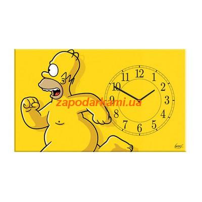 Настенные часы на холсте «Симпсоны»