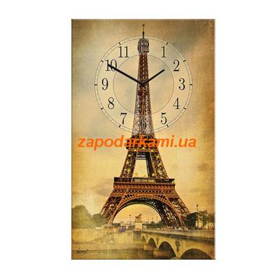 Настенные часы на холсте «Париж»