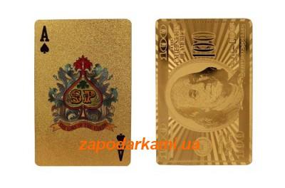 Колода золотых карт «100$- Gold»