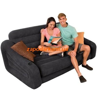 Надувная кровать-трансформер Intex (193см x 231см x 76см)