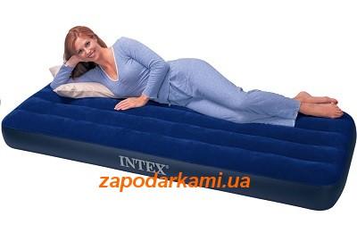 Надувной одноместный матрас Intex W(76см х 191см х 22см)