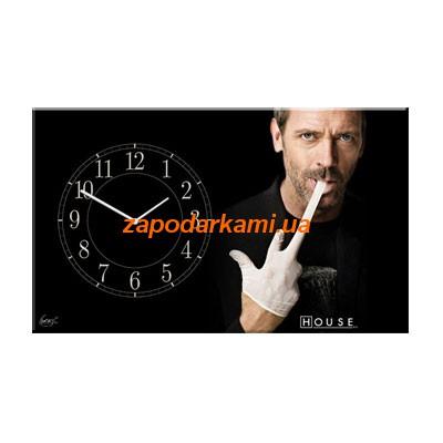 Настенные часы на холсте «Доктор Хаус»