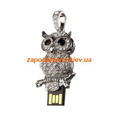 Ювелирная флешка «Сова», серебро