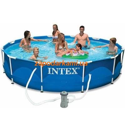 Каркасный бассейн Intex+ система циркуляции Pro (366cm x 76cm)