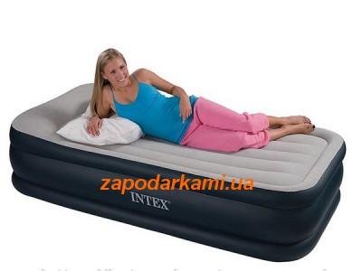 Надувная кровать Intex с электронасосом (99см х 191см х 42см)