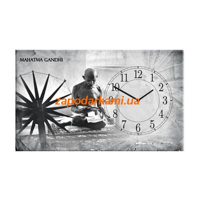 Настенные часы на холсте «Махатма Ганди»