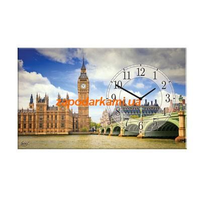 Настенные часы на холсте «Лондон»