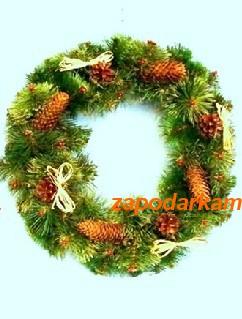 Рождественский оберег c декором «Expensive» -диаметр 50см