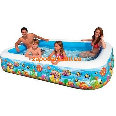 Семейный надувной бассейн Intex «Fish» (305см х 183см х 56см)