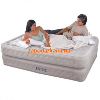 Надувная кровать Intex с электронасосом (152см х 203см х 56см)
