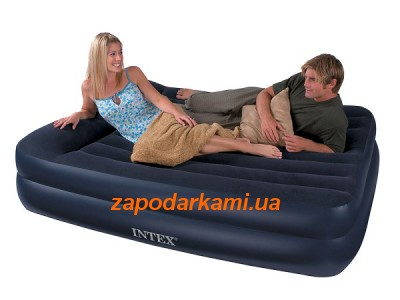 Надувная кровать Intex с электронасосом (152см х 203см х 42см)