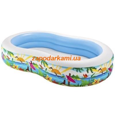 Детский надувной бассейн Intex «Пляж» (262см х 160см х 46см)