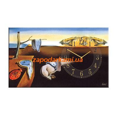 Настенные часы на холсте «Постоянство памяти»