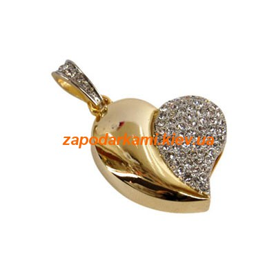 Ювелирная флешка «Сердце», золото