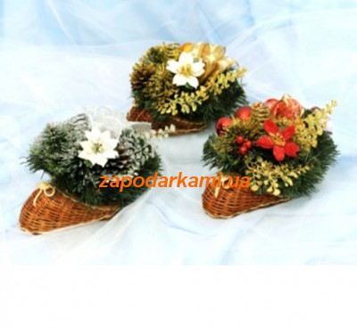 Декорированный рождественский подсвечник «Festive»