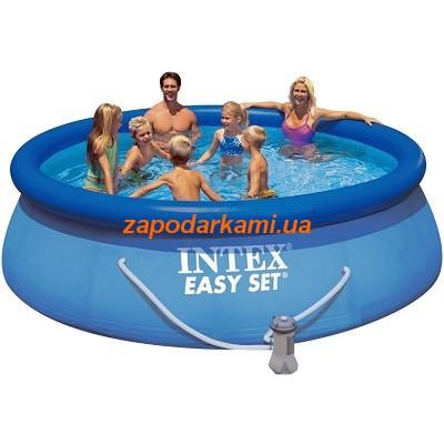 Надувной бассейн + система циркуляции Pro  (396cm х 84cm)