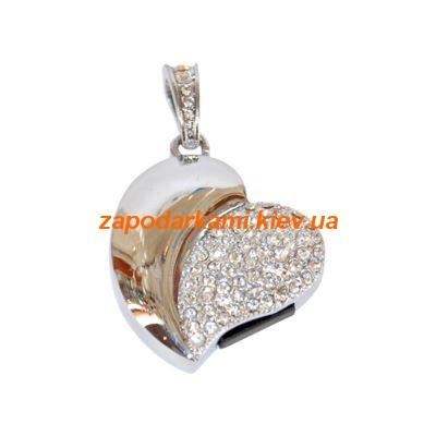 Ювелирная флешка «Сердце», серебро