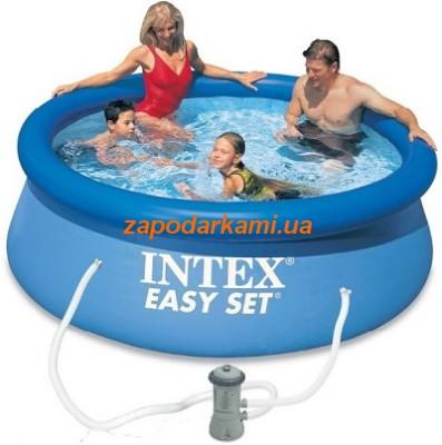 Надувной бассейн + система циркуляции Pro (244cm x 76cm)