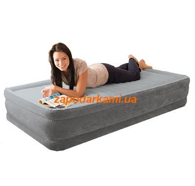 Надувная кровать Intex с электронасосом (137см х 191см х 33см)