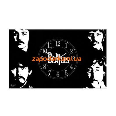 Настенные часы на холсте «The Beatles»