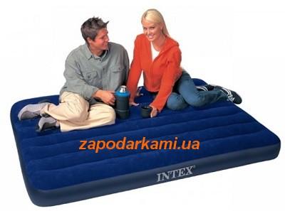 Надувной полуторный матрас Intex Med (137см х 191см х 22см)