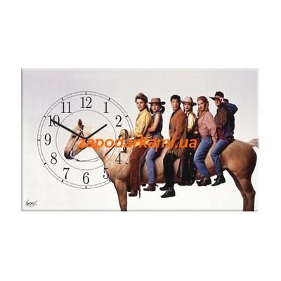 Настенные часы на холсте «Друзья»