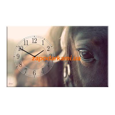 Настенные часы на холсте «Лошадь»